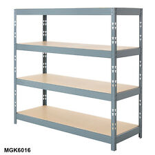 More details for 4 tier garage shelving heavy duty boltless racking | home storage shelves