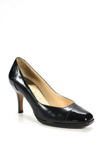 Cole Haan Womens Leather Raised Sole Heel Shoes Black Size 8.5