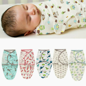 0-6 Months Pure Cotton NewBorn Baby Boy/Girl Swaddle Blanket Wrap Sleeping Bag