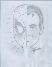 John Romita Sr. Spiderman Hand Signed and Drawn Sketch RARE COA