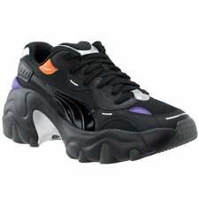 Puma Pulsar Cuña Tech con Cordones para Mujer Zapatillas Glam Zapatos Casuales-Negro -