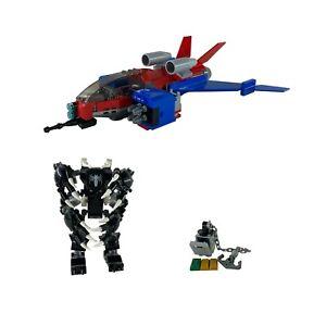 Lego Super Heroes Spiderjet vs. Venom Mech OHNE FIGUREN 76150 Ein MAL AUFGEBAUT