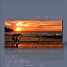 NEWQUAY SUNSET STUNNING CORNWALL SURFING SCENERY ICONIC CANVAS ART Art Williams