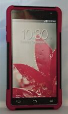 LG E973 Optimus G Case Rugged Rubber Hybrid Cover - Red and Black
