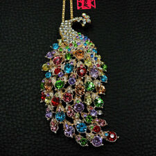 Colorful Peacock Betsey Johnson  Pendant Necklace M72