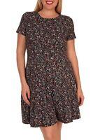 MaiTai Plus Size (1X, 2X, 3X) Floral Print Short Sleeve Dress