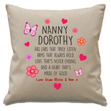 Personalised Nanny Cushion Cover Grandkids Names Birthday Christmas Keepsake