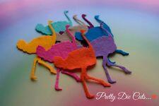 Felt Ostrich (6) Die Cut Bird Craft Embellishments