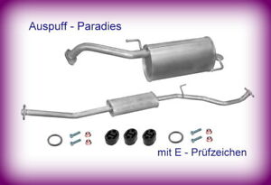 Abgasanlage Auspuff für Nissan Micra 1.0, 1.2 & 1.4 K12 Bj. 11/2003-04/2005 +Kit