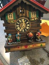 German Black Forest made musical Oompah Band 1 Day Cuckoo Clock Kuner