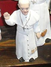 STATUETTA papa francesco 15 CM  PASTORE PRESEPE NAPOLI  TERRACOTTA  italy dvv