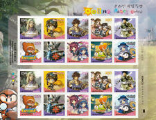 Korea Online Games Special 2006 Animation Cartoons (sheetlet) MNH *adhesive
