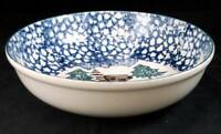 """Tienshan CABIN IN THE SNOW Round Vegetable Bowl 9"""" diameter LIGHT USE"""