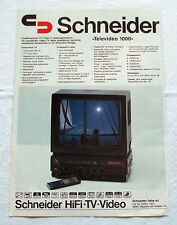 A423-Advertising Pubblicità-2000-SCHNEIDER HIFI TV VIDEO
