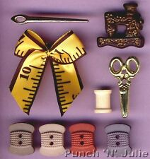 A STITCH IN TIME  Needle Sew Sewing Novelty Dress It Up Buttons & Embellishments