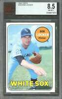 1969 topps #548 BOB LOCKER chicago white sox (pop 1) BGS BVG 8.5