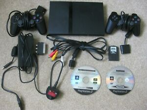 SONY PS2 Console/Controllers/Memory Card & Two Games Sonic/Spyro