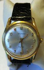 Vintage Mens Waltham Swiss Made Gold Tone 17 Jewel Mechanical Incabloc Watch