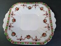 Vintage Melba fine bone china sandwich/cake plate, square and with floral design