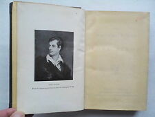 THE POETICAL WORKS OF LORD BYRON.OXFORD EDITION.REBOUND  H/B 1917