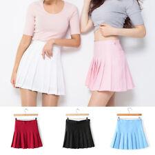 XS-XL Women Girl Slim Skirt Thin High Waist Pleated Tennis Mini Dress Short Kilt