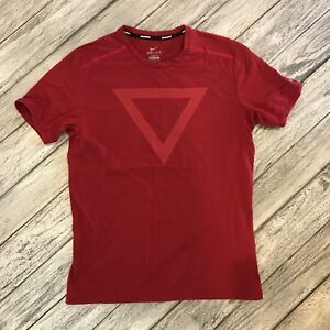 Nike Tailwind Printed Short-Sleeve Mens T-Shirt Size L 596184-687 Red