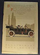 1912 Studebaker Flanders 20 Catalog Brochure Witt Special Excellent Original 12
