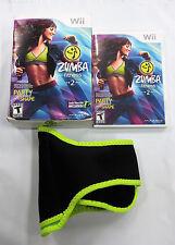 Zumba Fitness 2 (Nintendo Wii, 2011)   Good Condition*