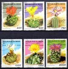 Flore - Cactus Bénin (7) série complète de 6 timbres oblitérés
