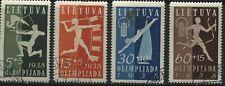 Lithuania 1938 Semi-Postal set used