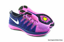 Nike womens Flyknit Lunar 2 running shoes sneakers size 9.5 Pink White Purple