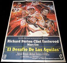1968 Where Eagles Dare ORIGINAL SPAIN R70 POSTER Clint Eastwood Burton MAC Art!