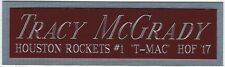 TRACY MCGRADY ROCKETS NAMEPLATE FOR AUTOGRAPHED SIGNED BASKETBALL-JERSEY-PHOTO