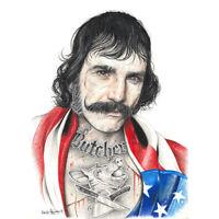 Wayne Maguire Tattooed Bill the Butcher Inked Ikon Canvas Art Print