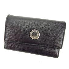 Bvlgari Key holder Key case Black Silver Woman Authentic Used Y5696
