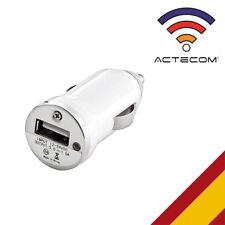 ACTECOM® MINI CARGADOR COCHE MECHERO USB BLANCO PARA HUAWEI BQ SAMSUNG LG MEIZU