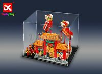 DK-Display case for LEGO Chinese New Year Temple Fair 80105 and Lion Dance 80104