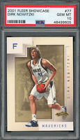 Dirk Nowitzki Mavericks 2001 Fleer Showcase Basketball Card #77 PSA 10 GEM MINT