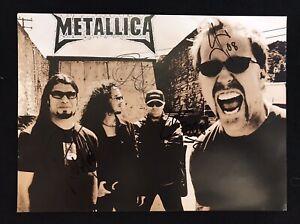 Metallica autogramm original signiert signed! With Proof! Metclub RARE!