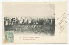 CPA PK AK CHASSE CHASSE A COURRE FRANCE 60 COMPIEGNE  BALANCER DE LA NAPPE 1904