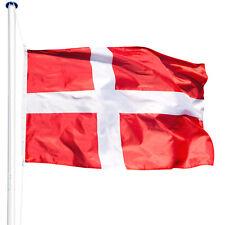 Mât de drapeau aluminium 625 cm drapeau Danemark avec kit jardin drapeaux blason