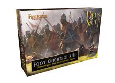 FIREFORGE FOOT KNIGHTS XI-XIIIc. 30 MULTI-PART HARD PLASTIC 28mm FIGURES FFG015