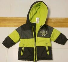 Boys Green/Black/Gray Little Rebels Hooded Coat Jacket 12 Months