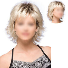 New Synthetic Natural Wig Heat Resistant Short Fluffy Blonde Full Hair Wig Women