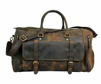 24 Inch Genuine Leather Duffel | Travel Overnight Weekend Leather Bag | Gym bag