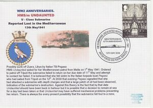 GB Stamps Navy Souvenir Cover WWII Anniversaries Submarine HMS Undaunted 2008