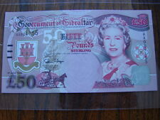 Gibraltar£50 Pound Banknote, Early Issue Number AA001155 1st July 1995