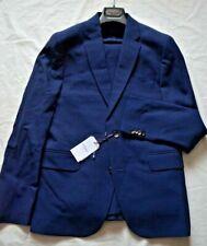 Hardy Amies London Smart Blue Textured Wool Work/Dress/Sports Suit UK 38 EU 48