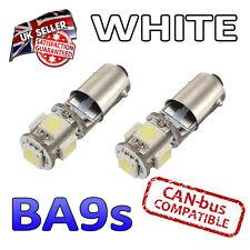2 X BA9S bombillas LED blanco 5 SMD 233 Placa De Luz Lateral T4W Interior luminoso