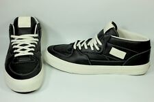 Vans OG Half Cab Originals LX Black Leather/White U.S Men shoes sneakers Size 13